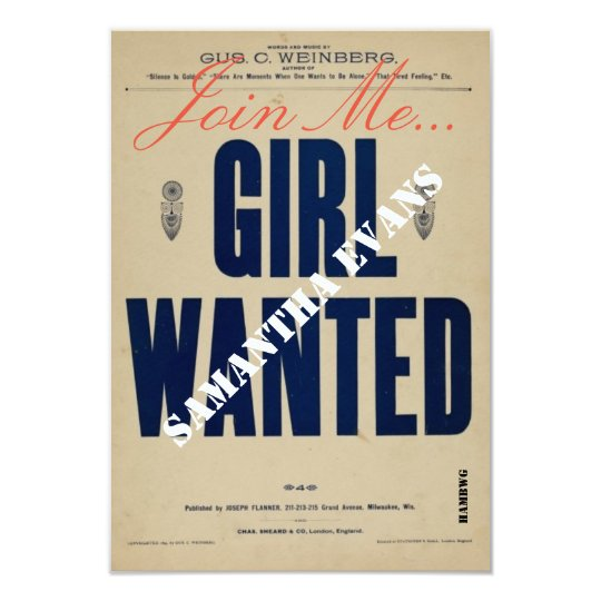 HAMbyWG - Invitation - Girl Wanted