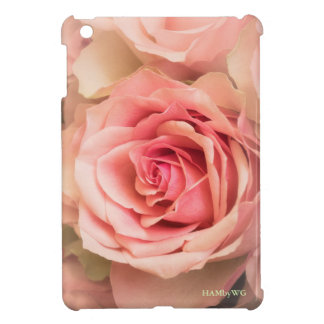 HAMbyWG iPad Mini Glossy Hard Case - Peach Roses iPad Mini Cover
