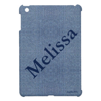 HAMbyWG - iPad Mini Hard Glossy Case - Denim Image Case For The iPad Mini