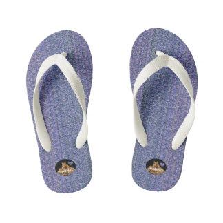 HAMbyWG Kid's Flip-Flops - Lavender w/Colors Kid's Flip Flops