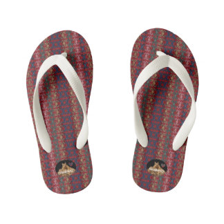 HAMbyWG Kid's Flip-Flops - Red/Blue Kid's Flip Flops