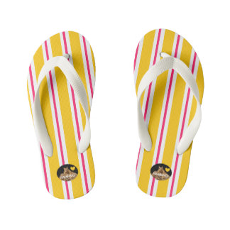 HAMbyWG Kid's Flip-Flops - Yellow/Pink/White Kid's Flip Flops