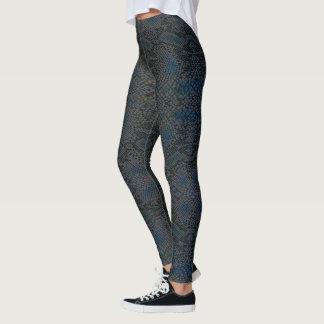 HAMbyWG - Leggings - Lizard Skin w Charcoal Blue