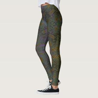HAMbyWG - Leggings - Lizard Skin w Olive  & Purple