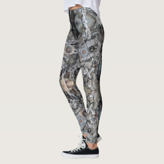 HAMbyWG - Leggings - Motor Parts Pattern