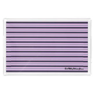 HAMbyWG - Lg Acrylic Tray - Black w Pink Neon