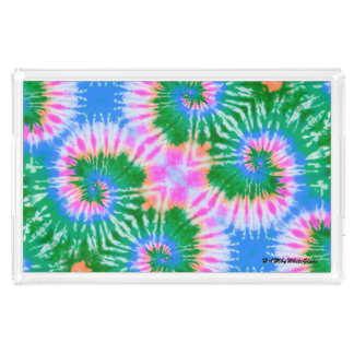 HAMbyWG - Lg Acrylic Tray -Green Tie Dye