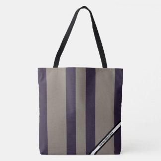 HAMbyWG - LG Tote Bag - Lavender Stripe W Logo