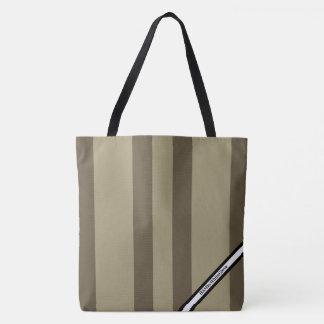 HAMbyWG - LG Tote Bag - Mushroom Stripe W Logo