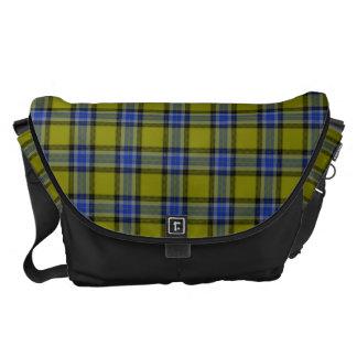 HAMbyWG - Lge Rickshaw Messenger Olive Blue Plaid Messenger Bags
