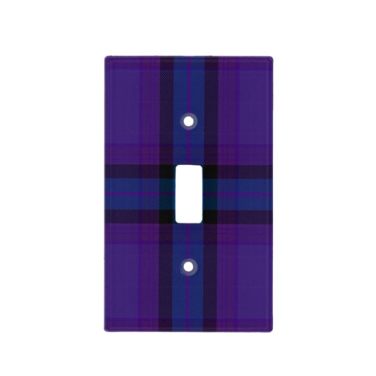 HAMbyWG - Light Switch Cover - Violet Blue Plaid