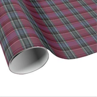 HAMbyWG - Linen Gift Wrap - Maroon/Steel Plaid