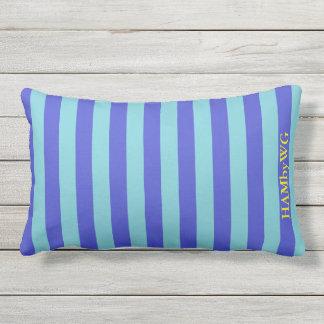 HAMbyWG Lumbar Pillow - Bright Blue/Aqua Stripe