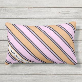 HAMbyWG - Lumbar Pillow -  Pink & Beige