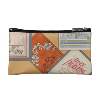 "HAMbyWG Make-up Bag ""Vintage Song Labels"" Makeup Bags"