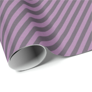 HAMbyWG Matte - Wrapping Paper - Plum Stripe