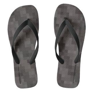 HAMbyWG - Mens Flip-Flops Gray Cells Flip Flops