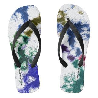 HAMbyWG - Mens Flip-Flops - Ink Splatters Flip Flops