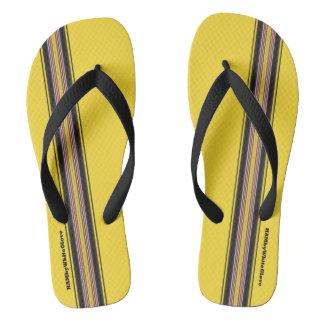 HAMbyWG - Mens Flip-Flops Mixed Stripes Flip Flops