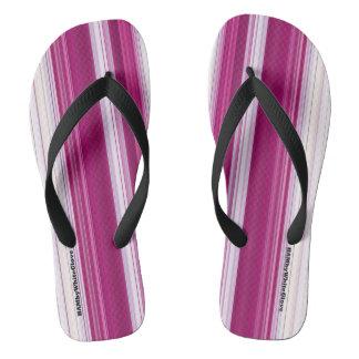 HAMbyWG - Mens Flip-Flops  Pink White Flip Flops