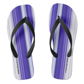 HAMbyWG - Mens Flip-Flops  Purple White Flip Flops