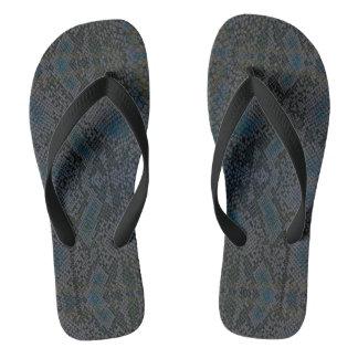 HAMbyWG - Mens Flip-Flops  Snake - Blue Flip Flops