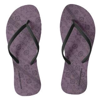 HAMbyWG - Mens Flip-Flops  Snake - Plum Boho Flip Flops