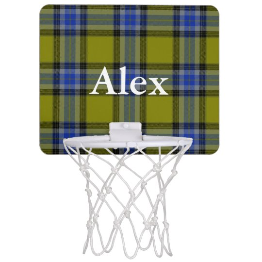 HAMbyWG - Mini Basketball Hoop = Olive Blue Plaid