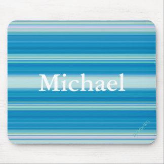 HAMbyWG - Mouse Pad - Blue Random Stripe