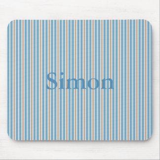 HAMbyWG - Mouse Pad - Blue w Tan n White Stripe