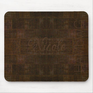 HAMbyWG - Mouse Pad - Distressed Rust