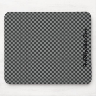 HAMbyWG - Mouse Pad - Gray and Black Checker