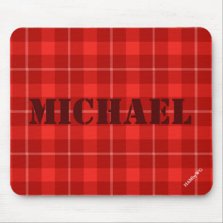 HAMbyWG - Mouse Pad - Red Plaid
