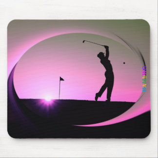 HAMbyWG - Mouse Pad - Woman Golfer at Dusk