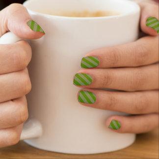HAMbyWG - Nail Decals - Green Grey Diagonal