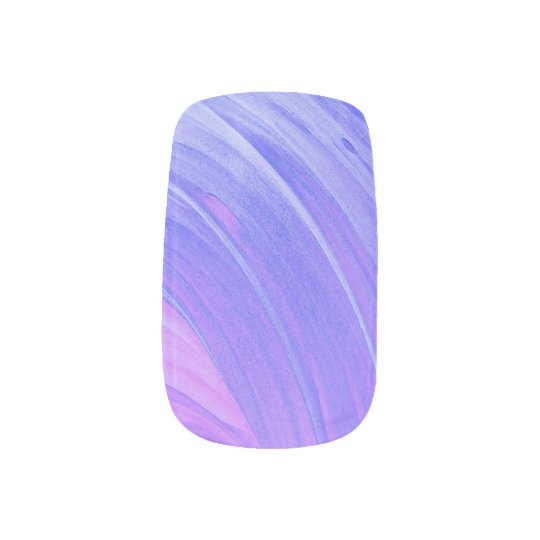 HAMbyWG - Nail Decals - Violet Swirl Fingernail Decals