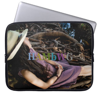 HAMbyWG - Neoprene Laptop Sleeve - Girl Reflecting
