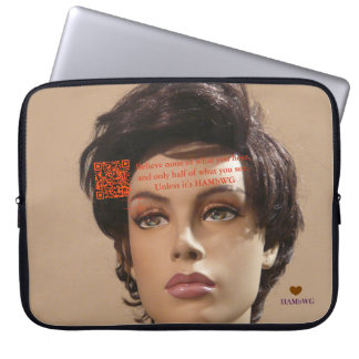 HAMbyWG - Neoprene Laptop Sleeve - Mannequin QR
