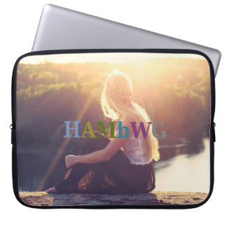 HAMbyWG - Neoprene Laptop Sleeve - Sunset Girl