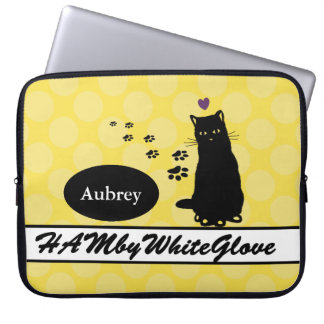 HAMbyWG - Neoprene  Sleeve - w Cat & Polka Dots