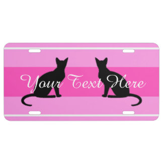 HAMbyWG offers Customizable Cats License Plate