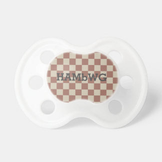 HAMbyWG - Pacifier - Antique Reddish/Beige Gingham