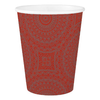 HAMbyWG - Paper Cup, 9 oz - Bohemian Red-Orange Paper Cup