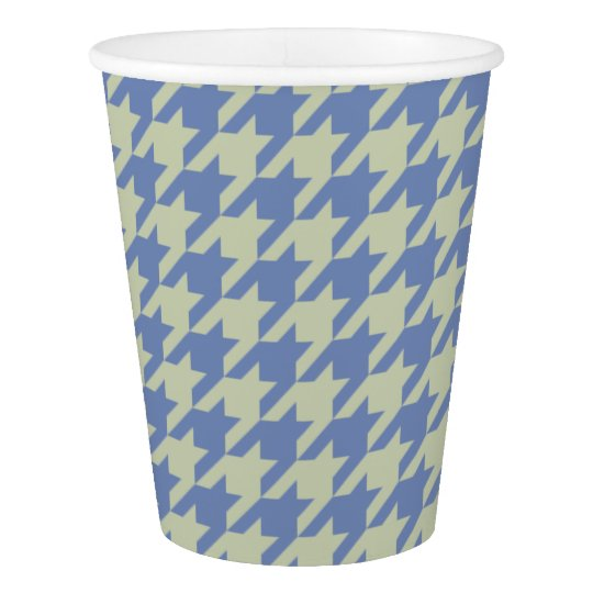 HAMbyWG - Paper Cup - Beige/Any Colour Houndstooth