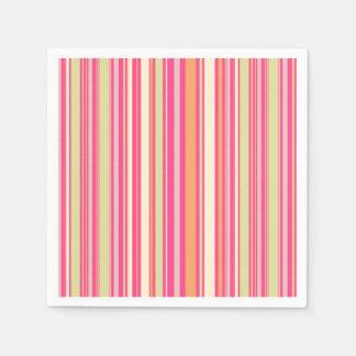 HAMbyWG - Paper Napkin - Pink Sherbert Stripe