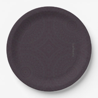 "HAMbyWG - Paper Plate 7 or 9"" - Boho Dark Cherry"