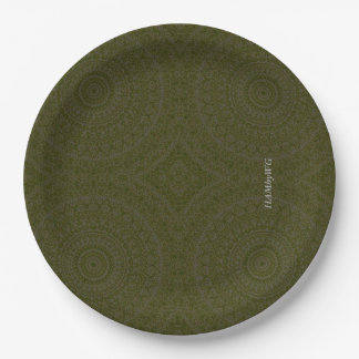 "HAMbyWG - Paper Plate 7 or 9"" - Moss"
