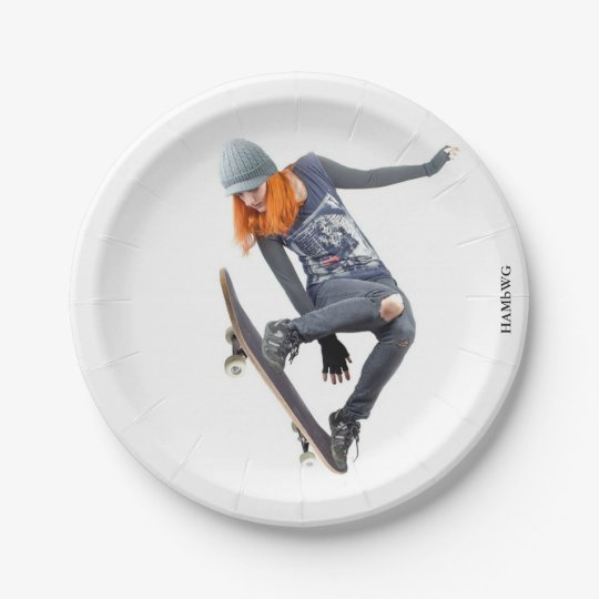 HAMbyWG - Paper Plate - Skateboarder 7 Inch Paper Plate