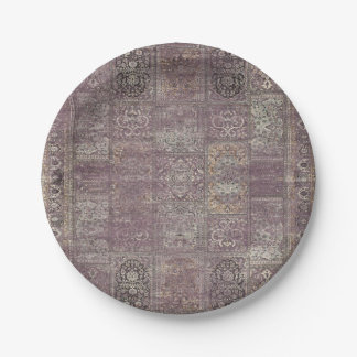 HAMbyWG - Paper Plate - Vintage Mauve 7 Inch Paper Plate