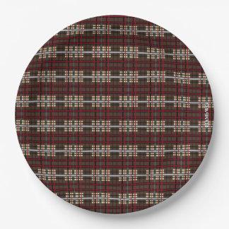 "HAMbyWG - Paper Plates 9"" - Plaid"